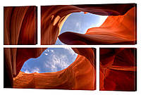 "Модульная картина ""Небо сквозь каньон"" 147x106 см"