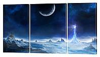 """Модульная картина """"Холодная планета"""" 176x99 см"""
