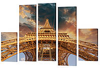 "Модульная картина ""Эйфелева башня"" 158x106 см"