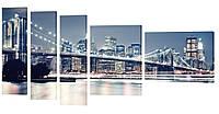 "Модульная картина ""Мост"" 217x109 см"