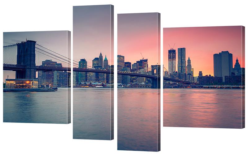 "Модульная картина ""Манхеттенский мост"" 172x106 см"
