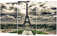 """Модульная картина """"Париж"""" 160x99 см"""