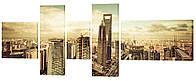 """Модульная картина """"Мегаполис"""" 250x99 см"""