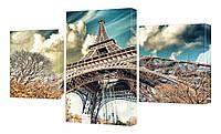 """Модульная картина """"Париж"""" 170x99 см"""