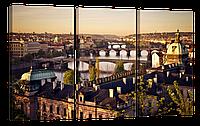 "Модульная картина ""Прага"" 167x96 см"