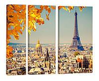 """Модульная картина """"Осень в Париже"""" 125x99 см"""
