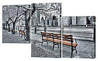 """Модульная картина """"Осень в парке"""" 165x99 см"""