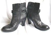 Сапоги женские демисезонные полусапожки кожаные черные Jane Shilton (размер 36)