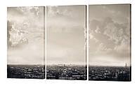"""Модульная картина """"Над городом. Сепия"""" 176x99 см"""