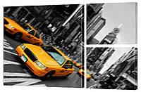 """Модульная картина """"Такси в Нью-Йорке"""" 17"""