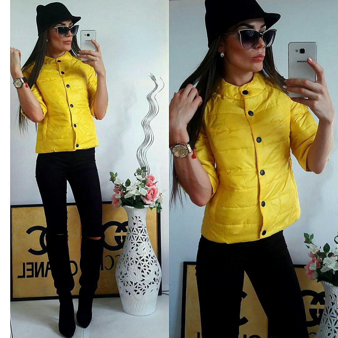 Куртка женская с рукавом 3/4, модель  203, желтый