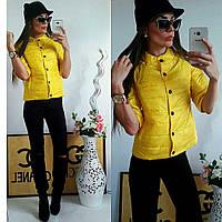 Куртка женская с рукавом 3/4, модель  202, желтый 54