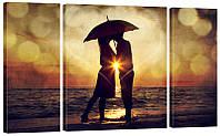 """Модульная картина """"Пара под зонтом"""" 325"""