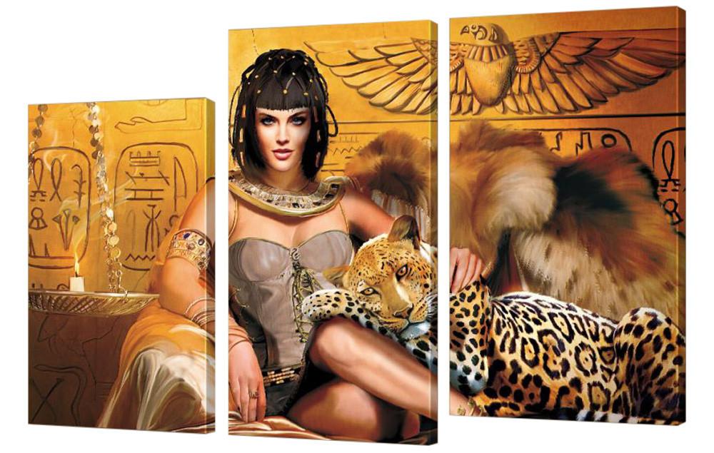 "Модульная картина ""Царица с леопардом"" 275"