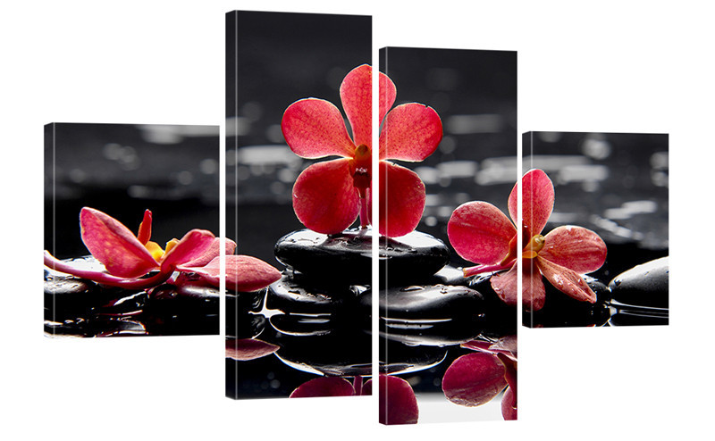 "Модульная картина ""Орхидеи на камнях"" 302"