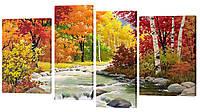 """Модульная картина """"Осенний лес"""" 405"""