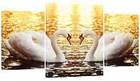 """Модульная картина """"Лебеди"""" 320"""