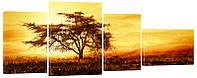 "Модульная картина ""Дерево на ветру"" 312"