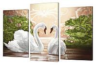 """Модульная картина """"Белые лебеди"""" 273"""