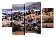 "Модульная картина ""Камни на берегу"" 211"