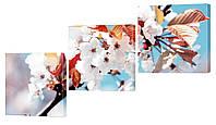 """Модульная картина """"Небесный цветок"""" 160x82 см"""