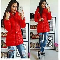 Куртка-парка зимняя, модель  204, красная