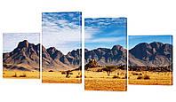 """Модульная картина """"Горная пустыня"""" 212x100 см"""