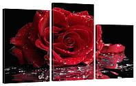 """Модульная картина """"Роза 2"""" 160x99 см"""