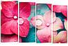 """Модульная картина """"Гортензии"""" 161x106 см"""