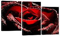 """Модульная картина """"Роза 4"""" 160х99 см"""