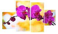 """Модульная картина """"Фиолетовые орхидеи"""" 177x104 см"""