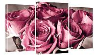 """Модульная картина """"Букет роз"""" 170х99 см"""