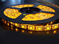 Светодиодная лента LED 5050, желтый, 60 шт/м, IP20