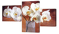 """Модульная картина """"Ваза с орхидеями"""" 165x99 см"""