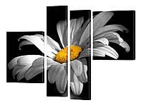 """Модульная картина """"Цветок ромашки"""" 128x110 см"""