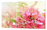 """Модульная картина """"Весенний цвет"""" 152x99 см"""