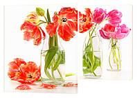 "Модульная картина ""Тюльпаны в вазе"" 99x133 см"