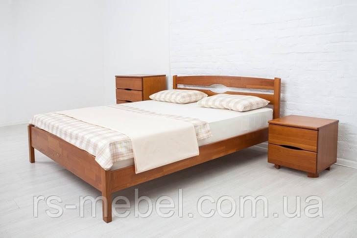 """Кровать двухспальная """"Лика люкс"""", дерево ( ТМ Олимп)"""