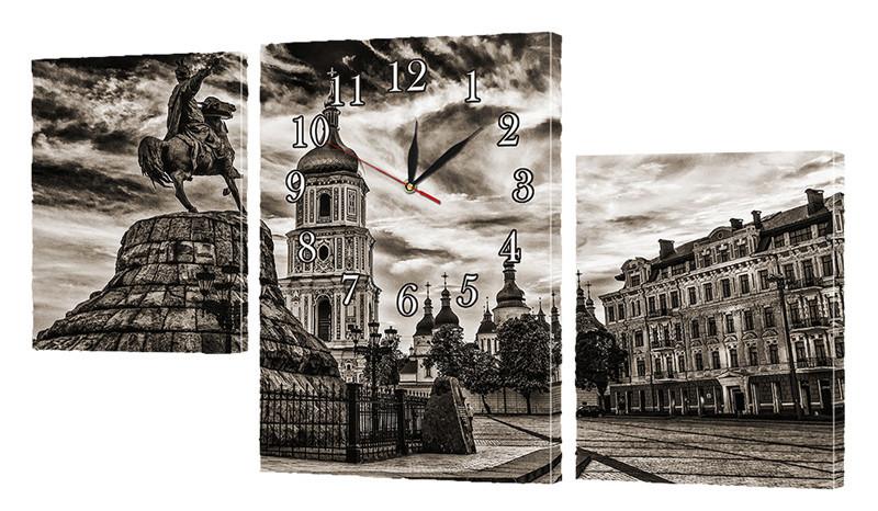 """Часы-модульная картина """"Киев"""" 130x70 см"""