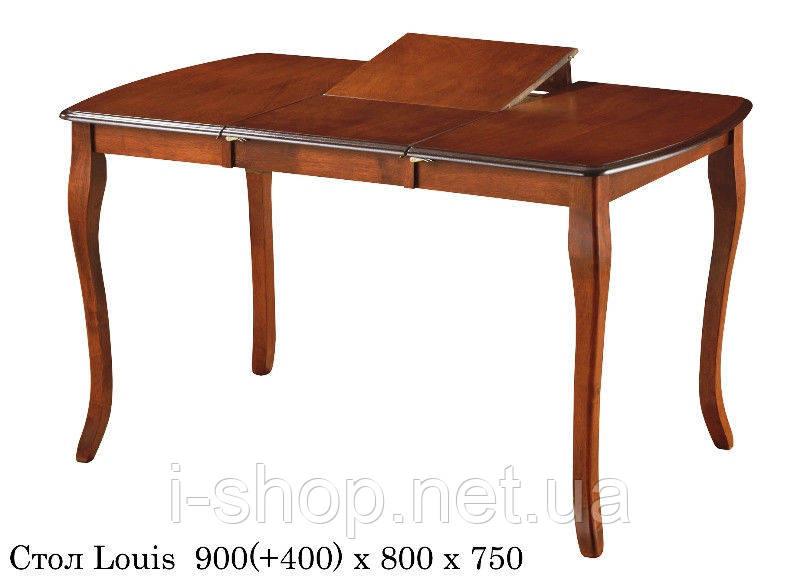 Обедененный комплект: Раскладной стол Louis (Луис) + 2 Стула 1010 орех беж