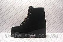 Ботинки женские стильные натуральная замша, фото 2