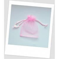 Мешочек из органзы (12 х 9 см), розовый.