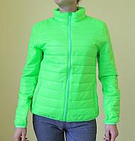 Куртка женская демисезонная Remain 7031-1 салатовая код 883А