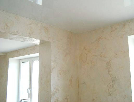 Декоративное покрытие с перламутровым эффектом