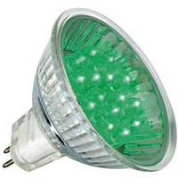 Лампа светодиодная 18LED 1W G5.3 зеленая, фото 1