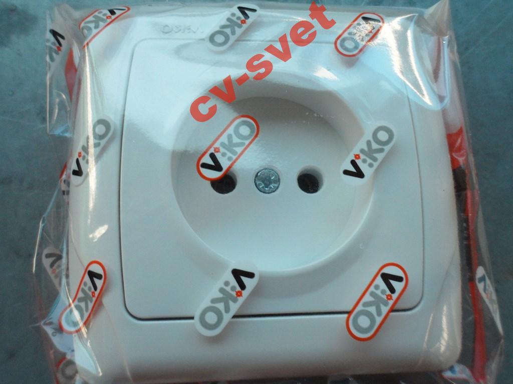 Розетка одинарная без заземления VIKO CARMEN белый  продажа, цена в ... b38f403da4e