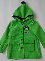 Пальто весеннее зелёное на девочку GEGEY