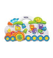 Музыкальная игрушка Weina Паровозик с животными 2106