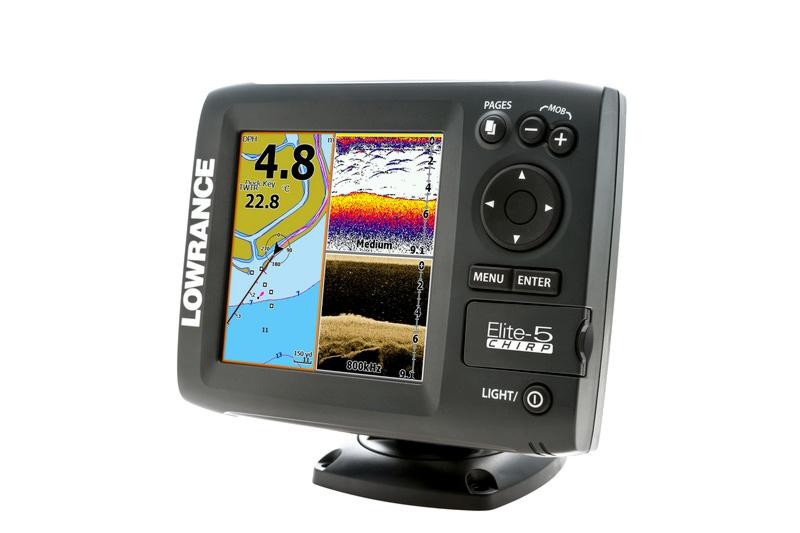 ЭХОЛОТ LOWRANCE ELITE-5 CHIRP 83/200 455/800