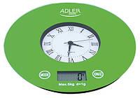 Электронные кухонные весы с часами ADLER AD 3144, фото 1